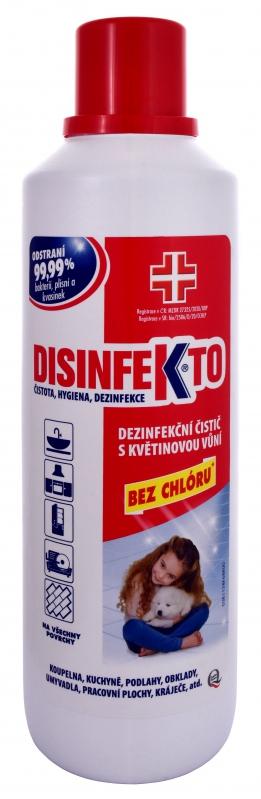 DISINFEKTO Dezinfekční čistič s květinovou vůní 10