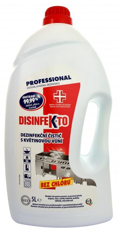 DISINFEKTO Dezinfekční čistič s květinovou vůní 5