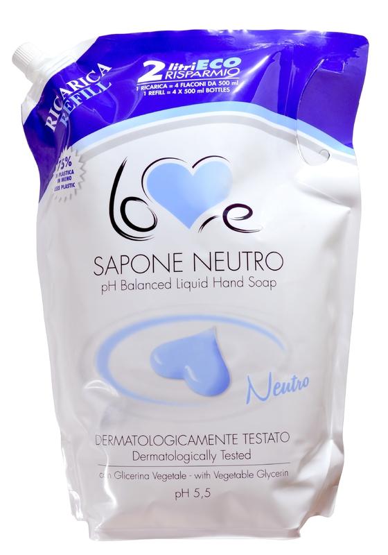 LOVE SAPONE CREMOSO NEUTRO 2000 ml mýdlo