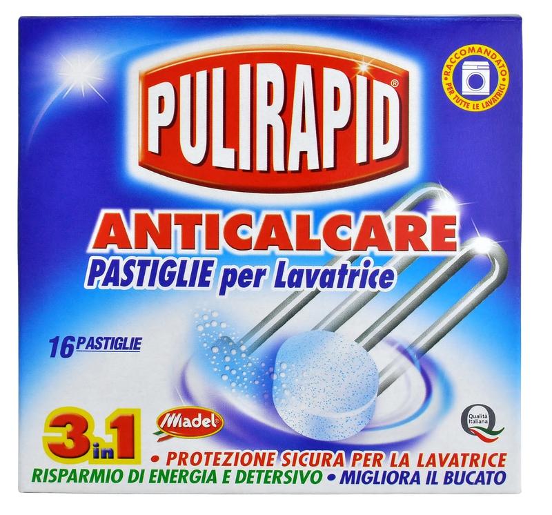 PULIRAPID ANTICALCARE tablety 256 g odvápňovač pračky