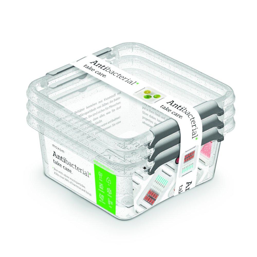 antibakter.box  0,85 l -sada-3ks, 15x15x 9cm,trans