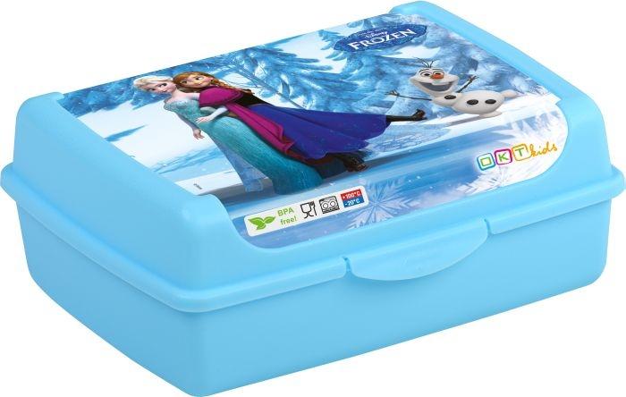 box  1,0l OLEK, FROZEN, klick modrá, dětský, plast