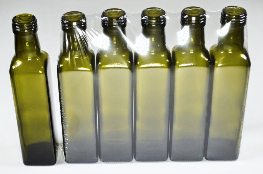 láhev 0,25l MARASCA- 5ks-oliva, šroubení SOUDEK,sk