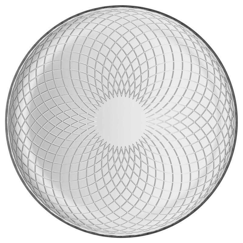 talíř d17cm, ELINA, TREND, dezertní, křížky, sklo