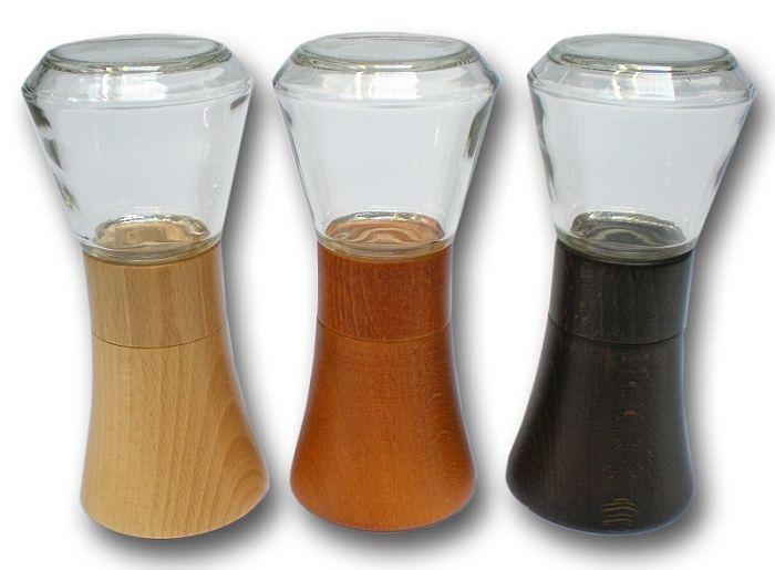 mlýnek FARO na koření, sklo+mořené dřevo