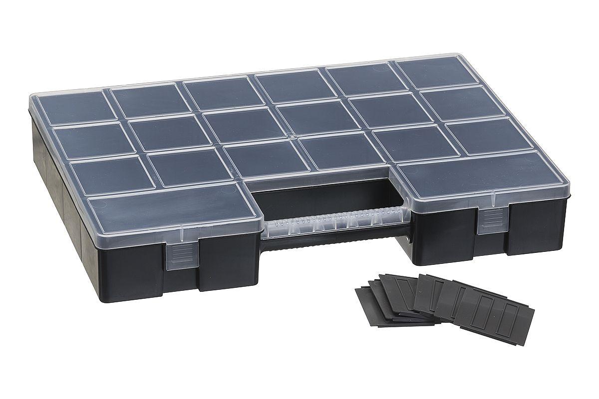 box LUXOR HOBBY W/12, 35,5x5,6cm, 12xdělítka, plas