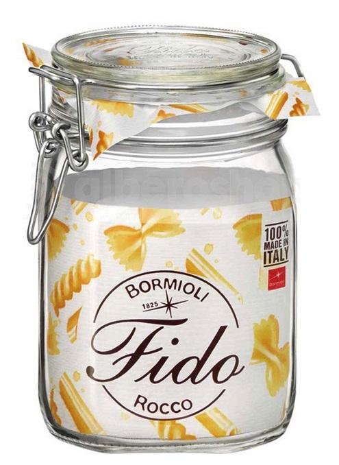 dóza 1,00l FIDO-Bormioli, 10,5x10,5x16cm, patentní