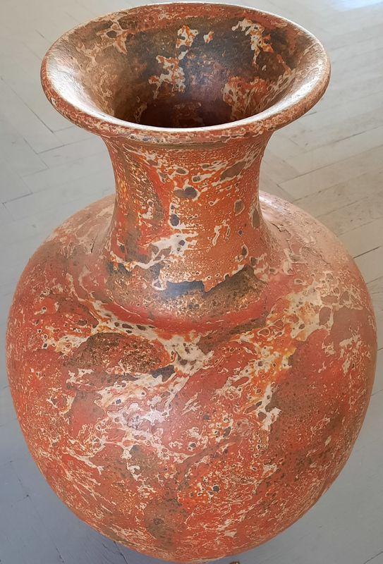 váza K 1F oranž 61x21cm, keramika