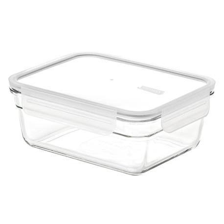 dóza 0,485l GLASSLOCK obd.zap., sklo+víčko plast