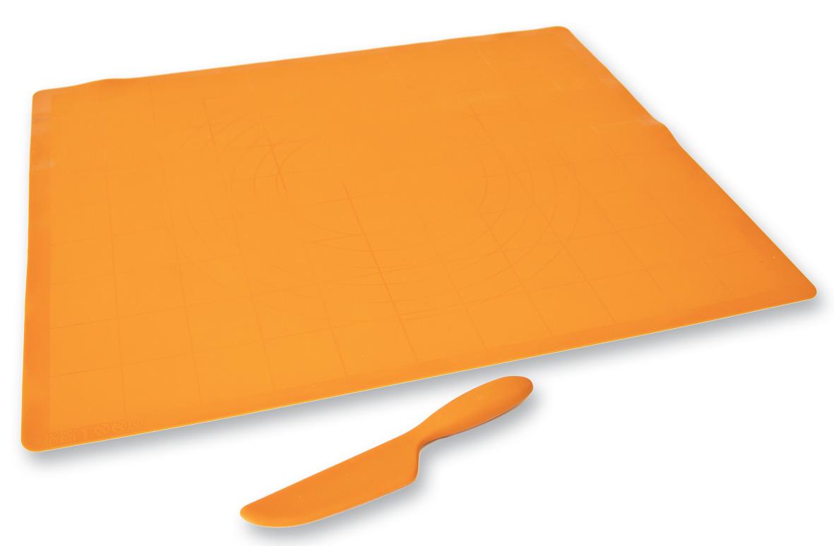 vál 60x50cm kuchyňský, silikon+nůž silik.20,5 zdar