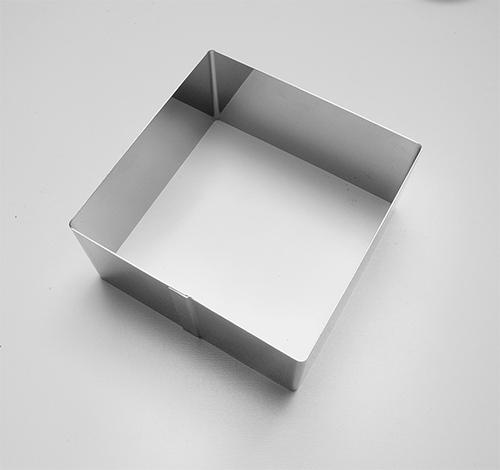 form.Čtverec, 8x8x4cm, na přílohy, č.6015, pocín