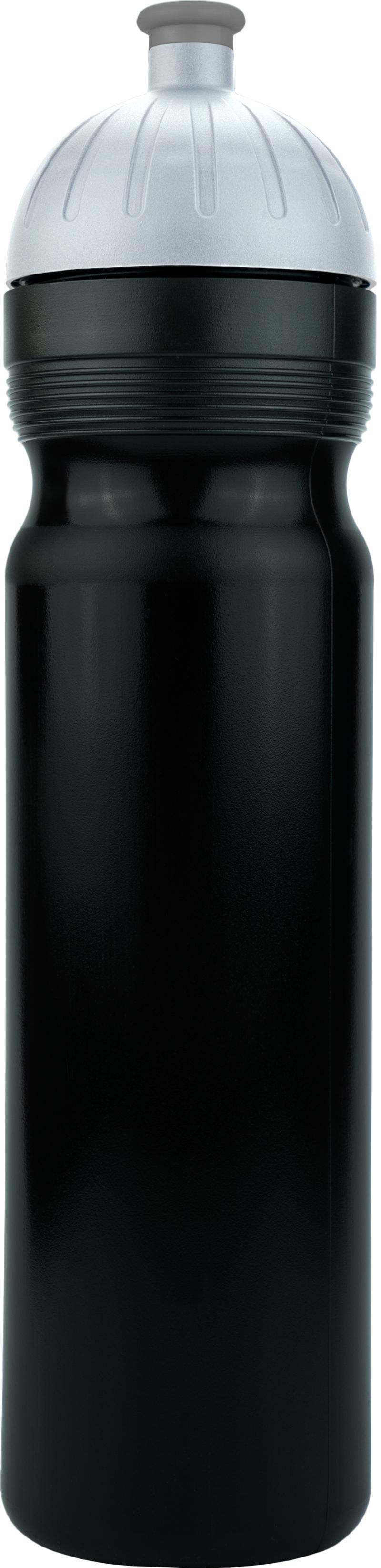 FreeWater lahev 1,0l ČERNÁ, víčko stříbrné