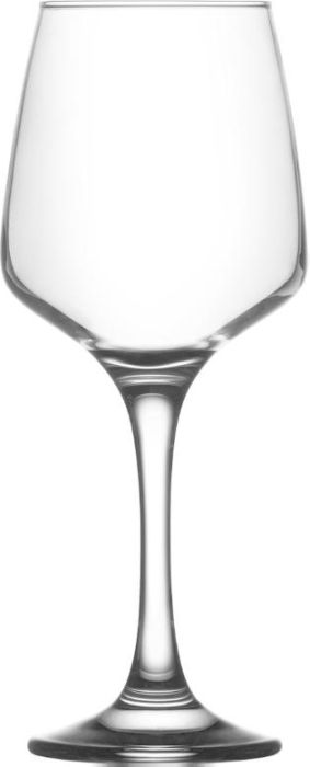 sklen. 295ml, 6ks, LAL,v.19cm , bílé víno na stopc