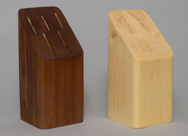 blok na  5nožů rovný, dřevo