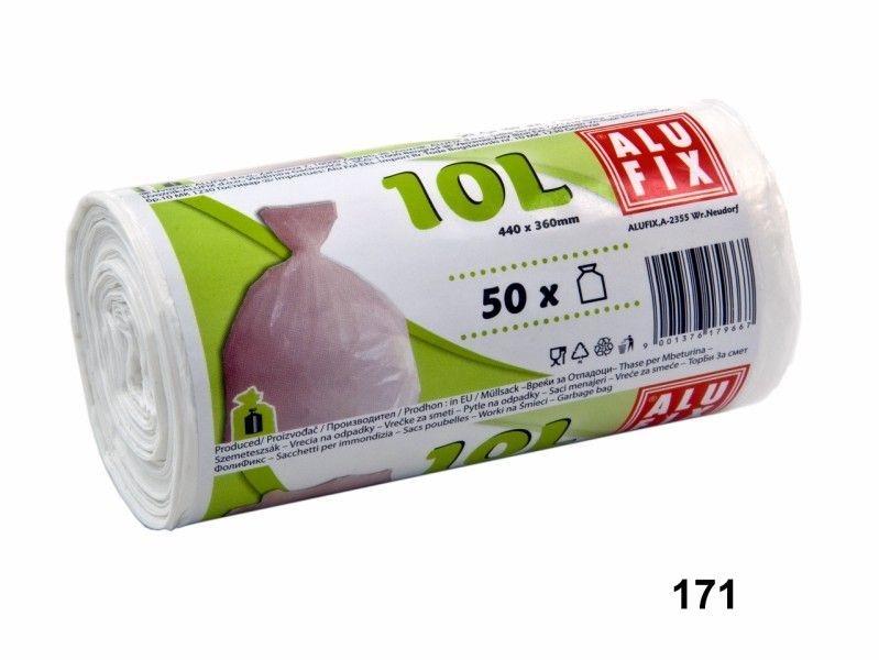 sáčky odp. 10l-50ks-44x36cm, bílé