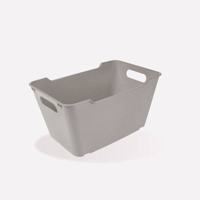 košík 6,0l LOFT,plný, šedý, 29x19x15cm,plast