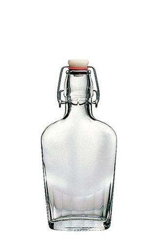 láhev 0,25l placatka,patent.uzávěr,sklo
