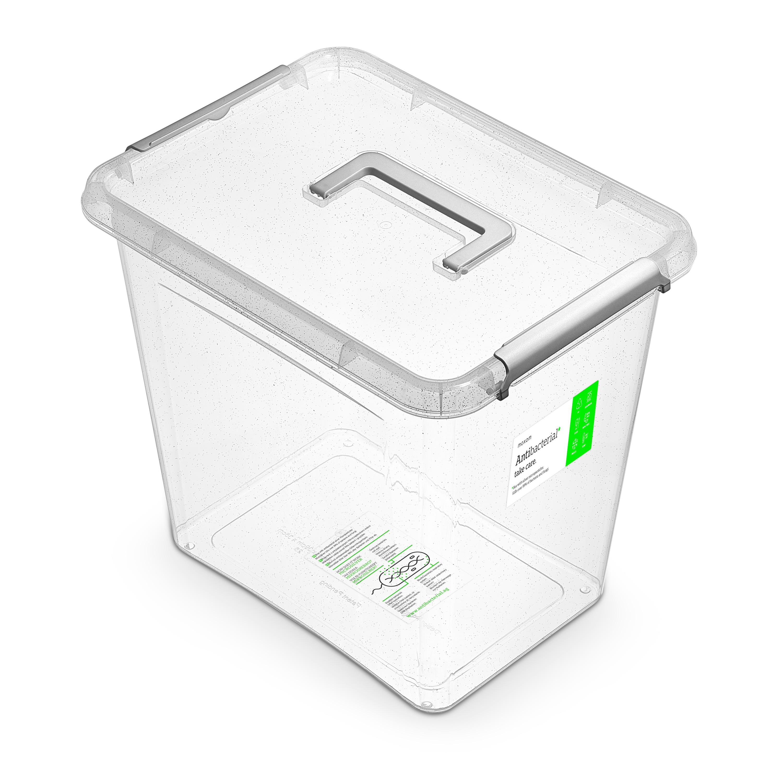 antibakter.box 30,0 l 39x29x35cm,rukojeť, transp.p