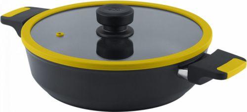 hrnec+PO d28 VEGA žlutý, v. 7cm, 4,0l, indukce