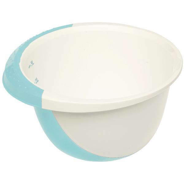 mísa 3,5l šlehací DE LUXE,bílá/akvamarín,plast
