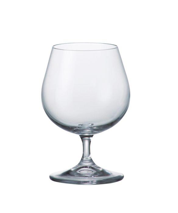 sklen. 400ml, 6ks, KLARA/SYLVIA cognac