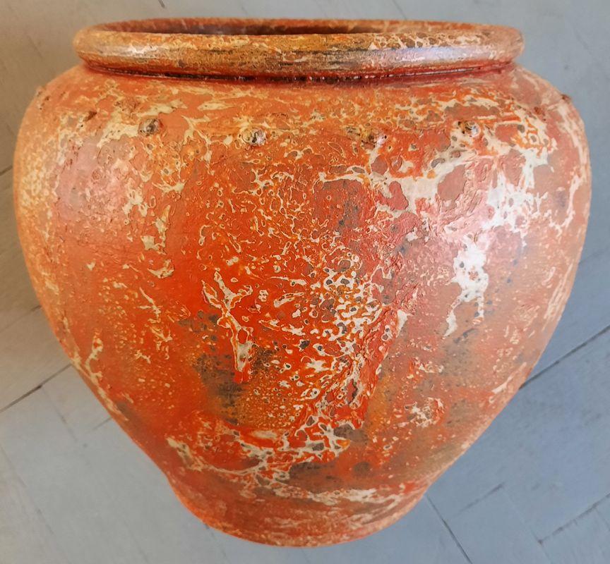 váza K 2A oranž 34x30cm, keramika
