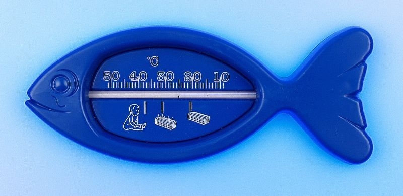teploměr 15,0x6cm koup., 10°C+50°C, RYBA, dětský