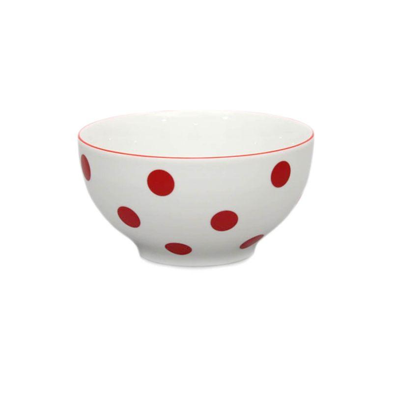 miska d14,5cm polév.červ.puntík-1.jak.THUN,porcelá