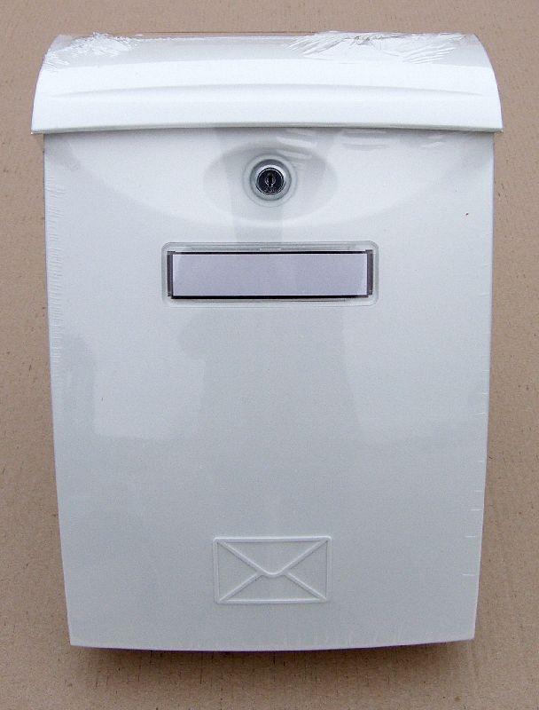 schránka ABS bílá pošt. 24x34,5x10,2cm, plast