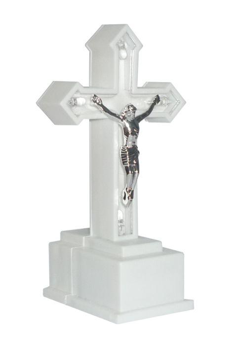 kříž ledový, 15cm, LED osvětlení