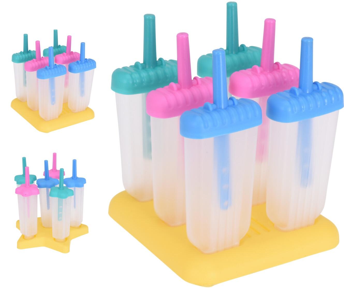 tvořítko na 6ks nanuků, průsv.plast