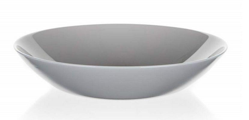talíř d20cm hluboký, DIWALI, šedý, tvrz.sklo