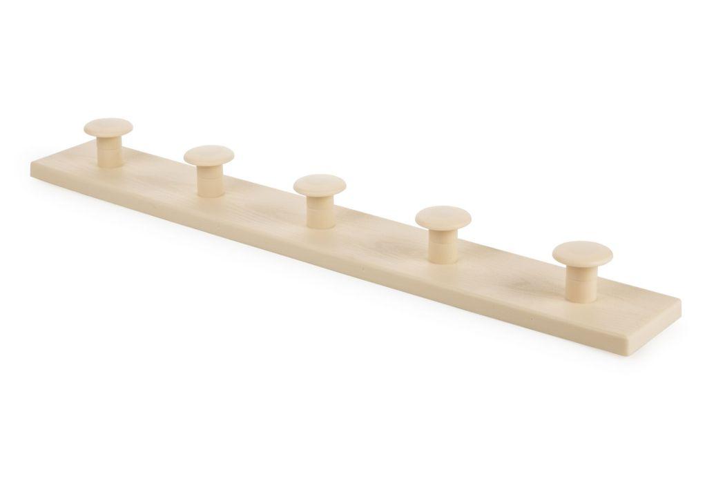 věšák 5-háčků béžový 50,1x4,5x7,1cm, plast