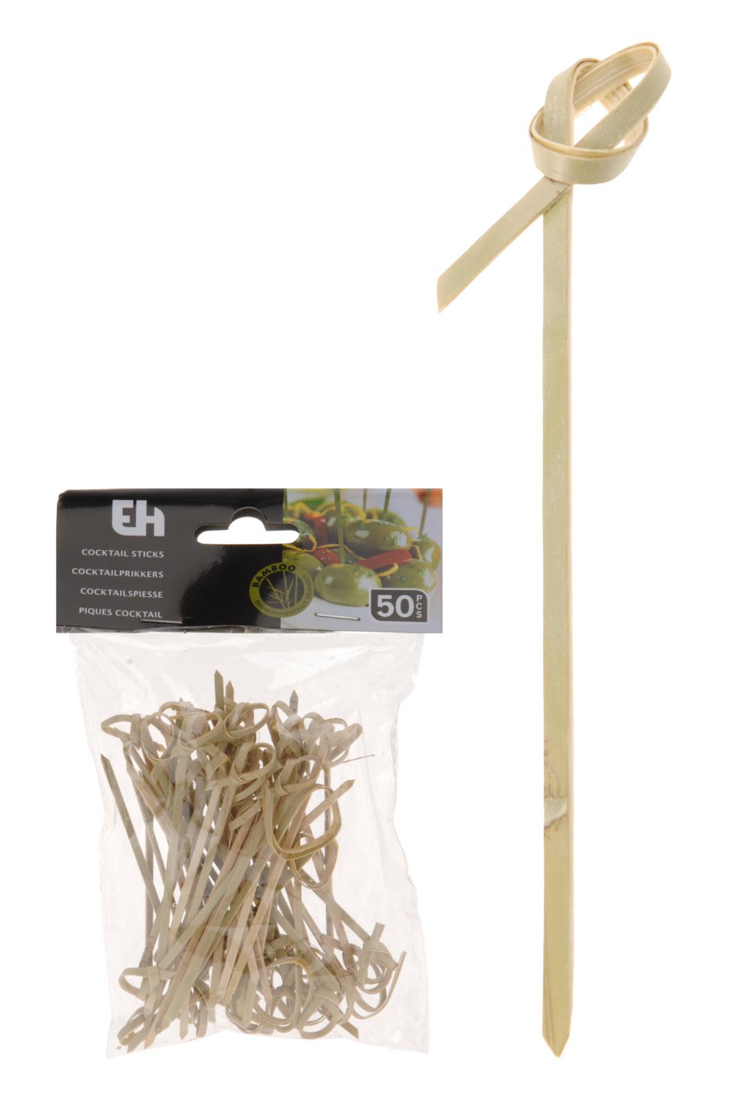 napichovátka 50ks, kroucená, bambus