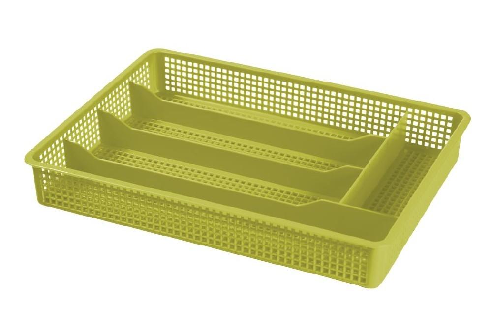příborník 31x23x4,5cm,oliva,,5přihr.,děr.plast