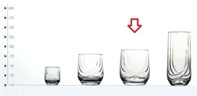 sklen. 320ml, 6ks, ELIT v.9,1cm - whisky