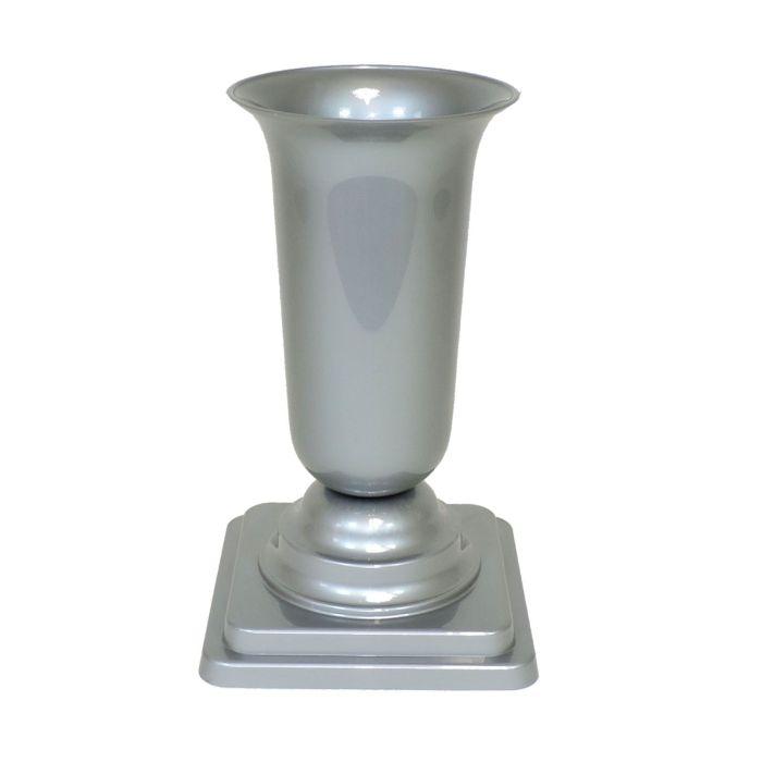 váza 15x15x27cm ŠEDÁ  zátěžová