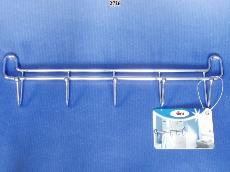 věšák-5háčků 27x4x7cm SLIM-chrom /27.10.26./