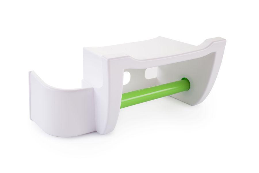 držák WC pap. MIRA zelený, polička mobil