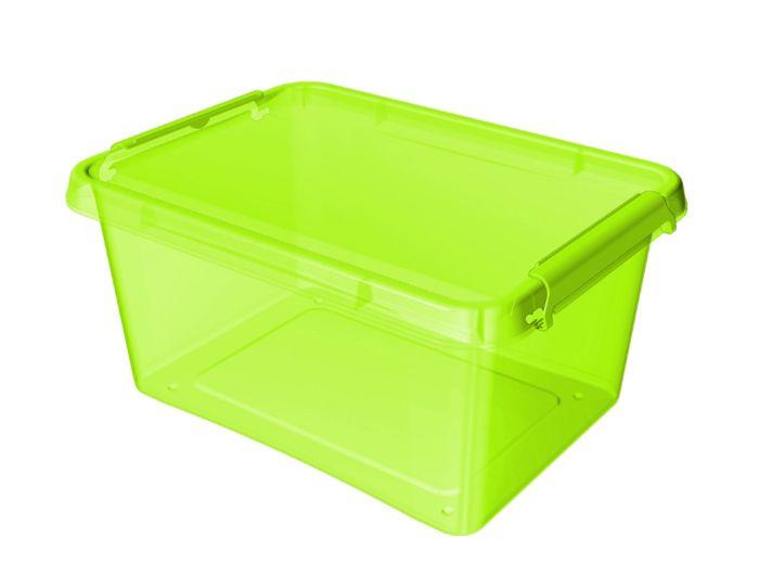 box 12,5 l 39x29x16,5cm, zelený tr.plast