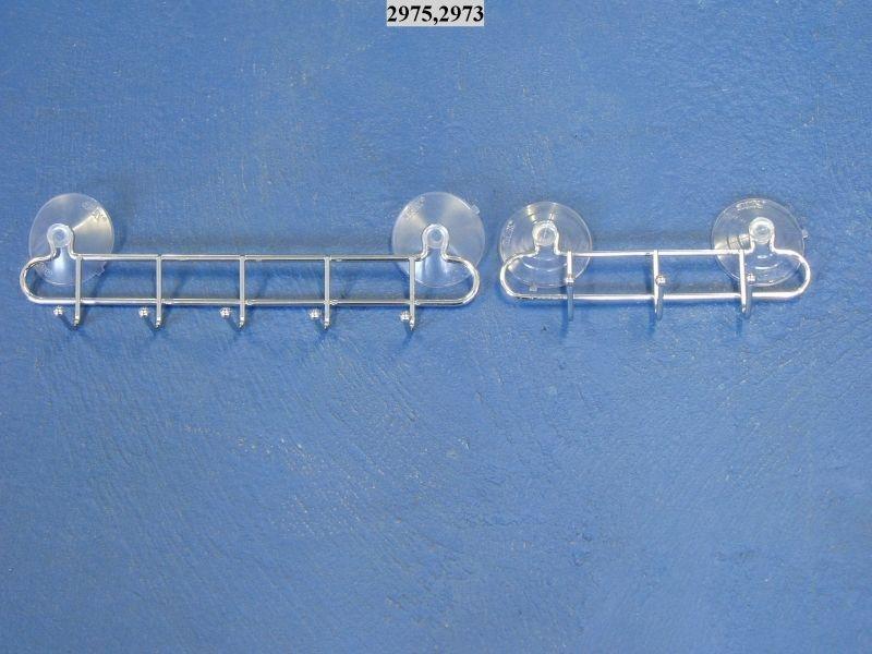 věšák 5-háčků+2přís. 31x5x7cm HOOKY-chrom /29.17.0