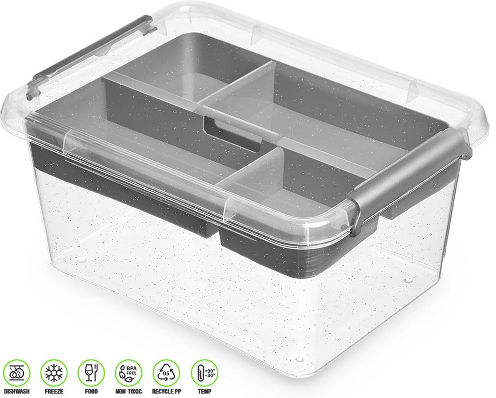 antibakter.box  1,6 l+vložka 19,5x19,5x 8,5cm,tran