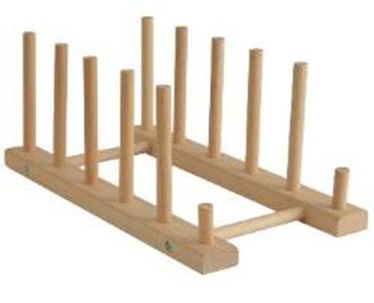 držák poklic (talířů) 27x14,5x11cm, dřevěný