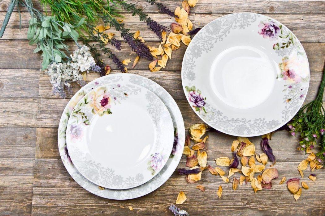soupr.18díl.jídelní WENUS dec.129 květiny, porc.