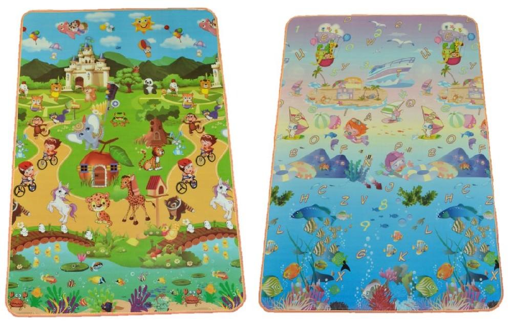 podložka 1,8x1,2m, pěnová,dětská MIX dekorů