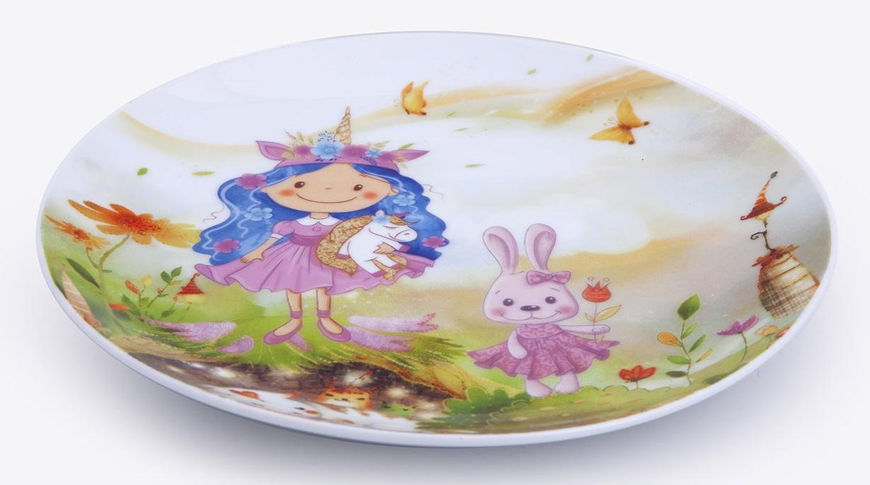 talíř d21cm mělký, PRINCESS, dětský, porcelán