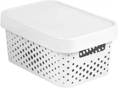 box  4,5l INFINITY díry, bílý, 26,8x18,6x12,4cm