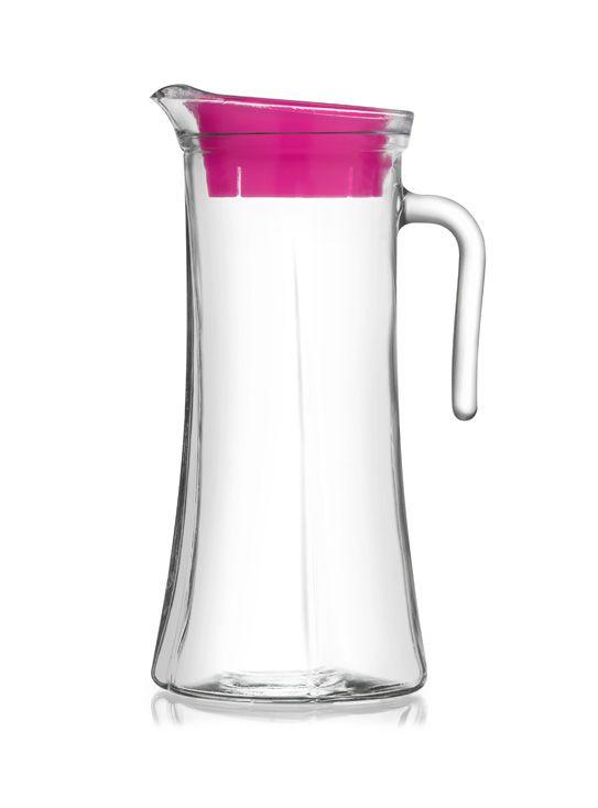 džbán 1,4l TRUVA sklo, plast.víčko,v26cm