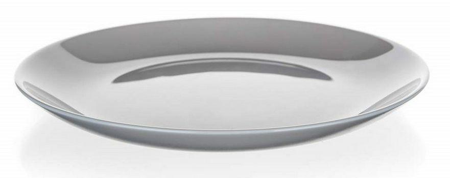 talíř d19cm dezertní, DIWALI, šedý, tvrz.sklo