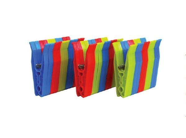 kolíčky 30ks, 8,8x3,5x0,9cm, kov.pružina, plast